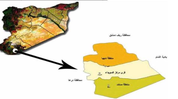 Capture Fires map Suwayda